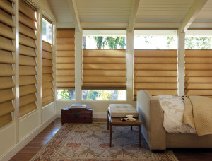 Roman Shades are Window Treatments that Lift