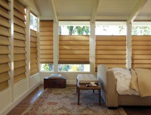 Roman Shades are Window Treatments that Lift