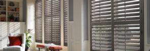 Heritance® Hardwood Shutters in the Living Room