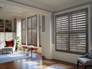 Heritance® Hardwood Shutters in the Living Room