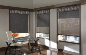 Designer Dual Roller Shades with Contrasting Valance