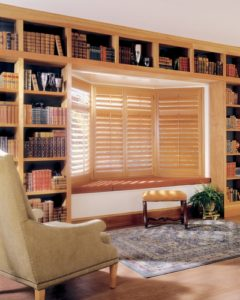 Heritance ® Hardwood Shutters in the Bay Window