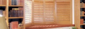 Heritance ® Hardwood Shutters in the Bay Window