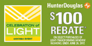 Hunter Douglas Rebates